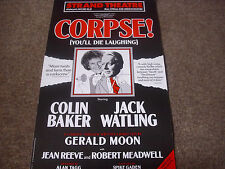 CORPSE You'll Die Laughing  feat  Colin Baker  STRAND Theatre Original Poster