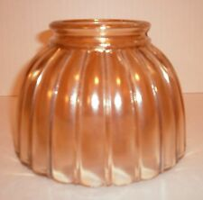 Vintage Peach Luster Glass Lamp Shade
