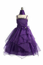 Long Flower Girl Dress Wedding Pageant Bridesmaid Princess Ball Gown Dance Party