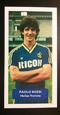 ITALIA-HELLAS VERONA-PAOLO ROSSI-punteggio UK Football commercio CARD