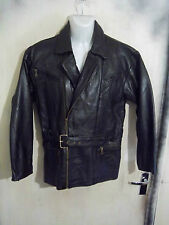 VINTAGE 80'S LEATHER MOTORCYCLE TOURING JACKET SIZE S