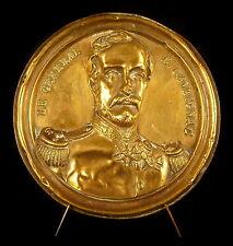 Médaillon au Gouverneur d'Algérie et général Eugène Cavaignac diam : 11,5 cm