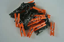 MINI CLOTHES PEGS - Halloween Colours x 100  - Ideal for Crafting