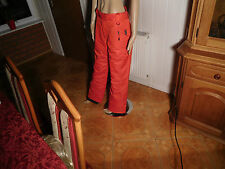 Damen Skihose Gr 38 rot 3M Thinsulate insulation Regenhose Thermo Hose
