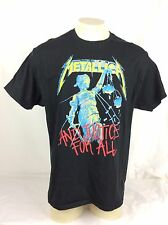 Metallica And Justice for All Black Graphic T Shirt Mens Size XL Cotton Blend