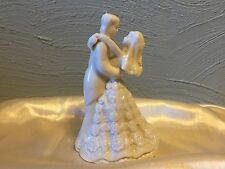 NEW IVORY PORCELAIN CERAMIC FIRST DANCE BRIDE AND GROOM FIGURINE 5""