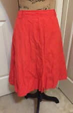 J. CREW Coral Cotton Flared Knee Length Casual Skirt _Sz 2
