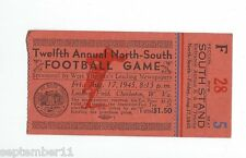 Twelfth Annual North-South Football Game Laidley Field Charleston, WVA  F5 1945