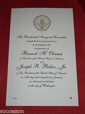 2013 Obama Official Commemorative Inaugural Invitation! Sealed Envelope!