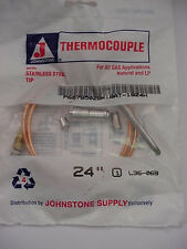 Johnstone 24 inch Thermocouple   L36-069   Ships on the Same Day of the Purchase