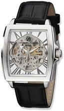 Charles Hubert Black Strap Stainless Steel Skeleton Dial Automatic Watch