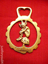 Vintage Solid Horse Brass/Bottle Opener Cornwall  Pixie Sitting on a Toadstool