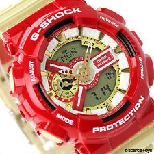 CASIO G-SHOCK Limited Edition Crazy Colors Iron Man Red Gold GA-110CS-4A 110CS-4