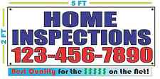 HOME INSPECTIONS w CUSTOM PHONE # Banner Sign NEW Size Best Quality for The $$$
