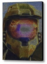 Halo 3 Helmet Video Game Quotes Mosaic Framed 9X11 Limited Edition Art w/COA