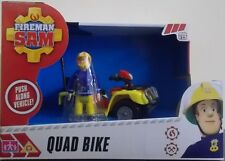 Fireman Sam ~ Quad Bike Push Along Vehicle Includes Sam Figure