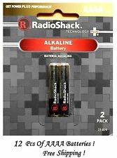 RADIOSHACK AAAA Alkaline Battery LR8D425 (6 Packs Of 2 Total = 12 Batteries)