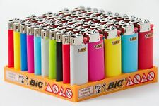 New Sealed Box - 50 Mini Bic Lighter All Colors