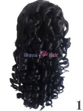 NEW CURLY BLACK  WIG FUN FANCY DRESS FREE PP TRANSVESTITE SISSY CROSSDRESSER GA