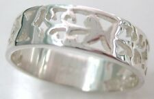 925 STERLING SILVER BUTTERFLY FILIGREE CUT OUT BAND RING SIZE I K M O R T V X