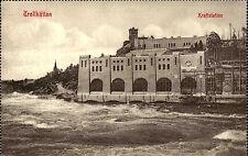 Trollhättan Västergötland Schweden Sverige ca. 1910 Kraftstation Kraftwerk Küste