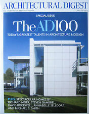 1/14 ARCHITECTURAL DIGEST AD100 Michael Smith Richard Meier David Rockwell
