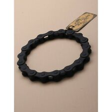 RUBBER BLACK FLEXIBLE BIKE CHAIN MOTORBIKE SILICONE WRIST BAND BRACELET