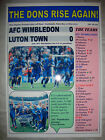 AFC Wimbledon 0 Luton Town 0 - 2011 Blue Square play-off final - souvenir print