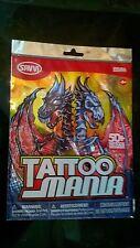 Tattoo Mania Temporary Tattoos Red Assortment - More Than 50 Temporary Tattoos