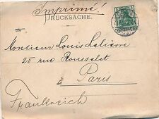 Carte Lettre Cologne Imprimé pour Paris Illustrations Cover Brief Germany Coln