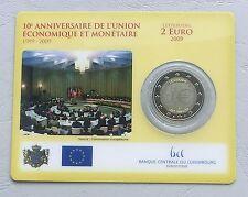 """2 Euro Lussemburgo 2009"""" 10 anni UEM """"St/Bu in Coincard"""