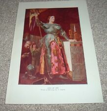 1919 JOAN OF ARC from painting by Jean Auguste Dominique Ingres Color Print