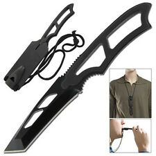 Tactical Warrior Tanto Full Tang Emergency Neck Knife HK1152BK-GG6