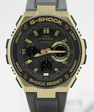 New Casio G-Shock G-Steel Tough Solar Black Resin Strap Men's Watch GSTS100G-1A