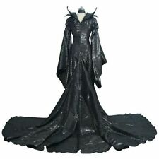 Halloween Costume Maleficent Cosplay Costume Balck Dress Women Costume US ship