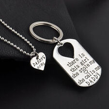 There Is This Girl, She Stole My Heart, She Calls Me DADDY Necklace & Key Ring