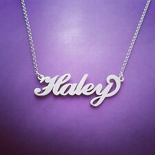 Silver ANY NAME necklace, necklace with name, sterling silver 925 Haley Hailey