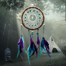 Dream Catcher Feather Leather Turquoise Bead Hanging Decoration Door Ornament