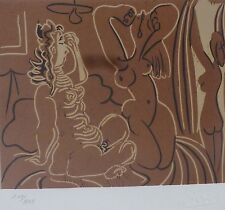 """PABLO PICASSO """" THREE WOMEN """"  HAND NUMBERED 217/333 signed LITHO"""