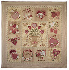 VINTAGE VALENTINE QUILT PATTERN, BOM Applique From The Vintage Spool NEW