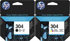 2x ORIGINAL HP 304 Set TINTE PATRONEN DESKJET 3720 3730 N9K06AE N9K05AE DRUCKER
