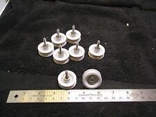 8 GOOD USED MAYTAG SERIES 300 UPPER DISH RACK ROLLERS W/ HARDWARE