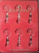 Waterford Set of 6 ORNAMENT ENHANCERS, New in Box