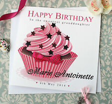 Personalised Birthday Card Daughter Colleague Friend Aunt Mother Niece Cupcake