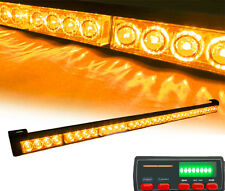 Truck 32 LED Amber Warning Traffic Advisor Flash Light Bar With Display Screen
