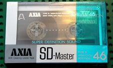 AXIA   SD  MASTER   46                       BLANK CASSETTE TAPE (1) (SEALED)