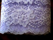 "Lace trim #444 Raschel scalloped edge polyester trim 4"" flat Lavender 20 yds."