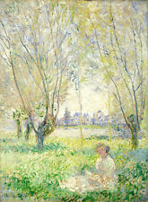 Woman Seated under the Willows 1880 Claude Monet 75cm x 55cm Canvas Print