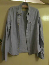 Blue Button Down Collar Hollister Shirt in Size L - Chest 48""