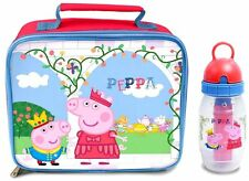 Peppa Pig-Once Upon Almuerzo Bolso & Freeze A Time Palo Botella - * NUEVO *